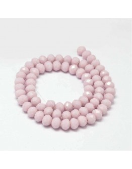 Glass Beads Strands, Faceted Abacus , Thistle, 8x6mm, Hole: 1mm; about 72pcs/strand, 17""