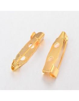 Aukso spalvos geležinis sagė ruošinys, matmenys: 20x5x5mm, 5vnt./pak.