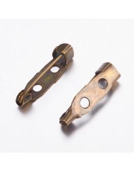 Žalvario spalvos geležinis sagės ruošinys, matmenys: 20x5x5mm, 5 vnt./pak.