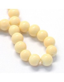 """Baking Painted Glass Round Bead Strands, Moccasin, 8.5~9mm, Hole: 1.5mm; about 105pcs/strand, 31.8"""""""