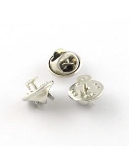Platinos spalvos geležinis sagės ruošinys, matmenys: 4,5x12mm, smeigtukas - 1mm pločio, 4 vnt./pak.