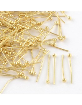 Aukso spalvos, žalvarinės vinutės su burbuliuku, matmenys: 32mm; burbuliukas: 0.5mm; ~50vnt./pak.