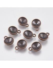 Vario spalvos, pakabukas, ruošinys deimanto formos akutei, be švino, nikelio ir kadmio, matmenys: ~16mm ilgio, 12mm pločio, 5mm