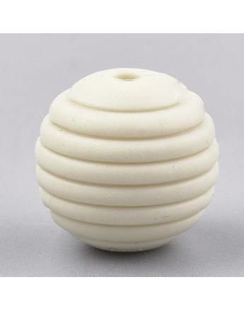 Maistinio silikono karoliukai, apvalūs, matmenys: 15x14mm, skylė: 2mm