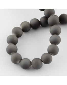 Painted Glass Bead Strands, Rubberized Style, Round, DarkGray, 8mm; Hole: 1.3~1.6mm; about 100pcs/strand, 31.4""