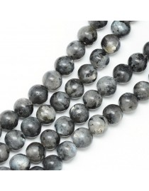 Natural Labradorite Bead Strands, Round, 8~9mm, Hole: 1mm; about 46pcs/strand, 15.3""
