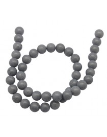 """Natural Mashan Jade Beads Strands, Dyed, Round, Gray, 8mm, Hole: 1.2mm; about 51pcs/strand, 16"""""""