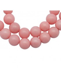 """Natural Mashan Jade Beads Strands, Dyed, Round, Pink, 10mm, Hole: 1.2mm; about 42pcs/strand, 16"""""""