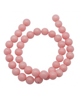 Natural Mashan Jade Beads Strands, Dyed, Round, Pink, 10mm, Hole: 1.2mm; about 42pcs/strand, 16""