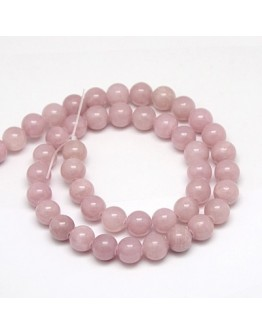 Natural Yellow Jade Beads Strands, Dyed, Round, RosyBrown, 8mm, Hole: 1mm; about 50pcs/strand, 15.75""