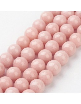 """Natural Mashan Jade Round Beads Strands, Dyed, LightSalmon, 10mm, Hole: 1mm; about 41pcs/strand, 15.7"""""""