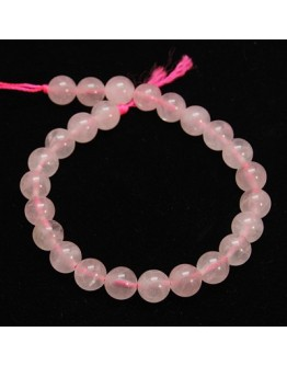 Natural Rose Quartz Beads Strands, Round, 10mm, Hole: 1mm
