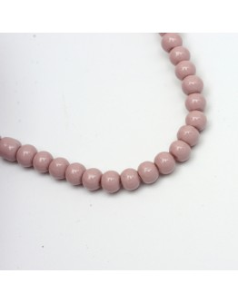 Painted Glass Bead Strands, Baking Paint, Round, RosyBrown, 10mm; Hole: 1.3~1.6mm, about 80pcs/strand, 31.4""
