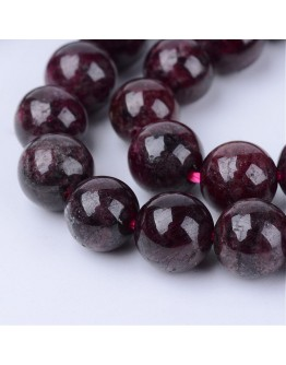 Natural Garnet Beads Strands, Round, 10~10.5mm, Hole: 1.2mm; about 36pcs/strand, 15.5""