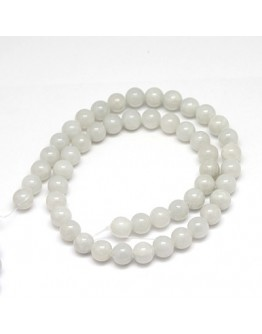 Natural Yellow Jade Beads Strands, Dyed, Round, Gainsboro, 8mm, Hole: 1mm; about 50pcs/strand, 15.75""