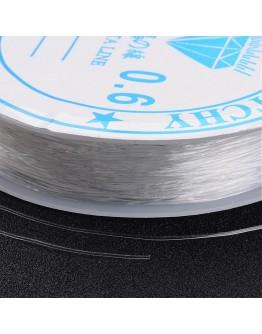Tamprus silikoninis siūlas, skaidrus, matmenys: 0,6mm, ~8m/rit.