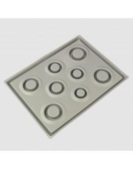 Plastikinė lenta apyrankių gamybai, pilkos spalvos, matmenys: 347x260x18mm
