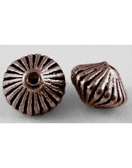 Vario spalvos intarpai, be nikelio ir kadmio, bicone formos, matmenys: apie 7.8mm diametero, 5.5mm storio, skylė: 1mm; 10 vnt./p