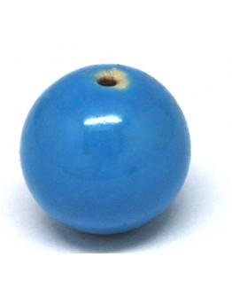 Keramikos karoliukai, apvalūs, mėlynos spalvos, matmenys: 20mm, skylė: 4mm