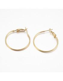 Aukso spalvos, geležiniai auskarų ruošiniai, matmenys: 32x30x1mm, adatėlė: 0.7mm