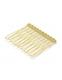 Aukso spalvos, geležinis plaukų papuošalo ruošinys, matmenys: 37x42x4mm