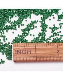 TOHO® Japoniški stiklo karoliukai, apvalūs, žalios spalvos, matmenys: 11/0  ~2mm diametro, 1.5mm storio, skylė: 0.5mm; ~10 g./pa