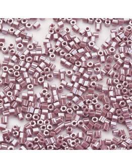 TOHO® Japoniški stiklo karoliukai, šešiakampio cilindro formos, blizgios levandų spalvos, matmenys: 2x2mm, skylė: 0.6mm; ~10 g.