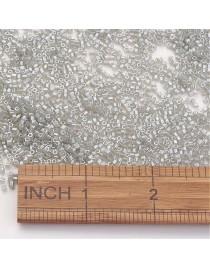 TOHO® Japoniški stiklo karoliukai, šešiakampio cilindro formos, blizgios pilkos spalvos, matmenys: 2x2mm, skylė: 0.6mm; ~10 g./p