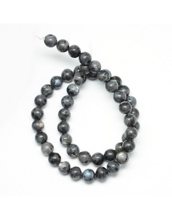 """Natural Labradorite Bead Strands, Round, 8~9mm, Hole: 1mm; about 46pcs/strand, 15.3"""""""