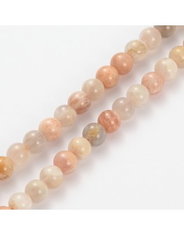 """Natural Gemstone Moonstone Round Beads Strands, 8mm, Hole: 1mm; about 52pcs/strand, 15.5"""""""