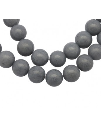 """Natural Mashan Jade Beads Strands, Dyed, Round, Gray, 10mm, Hole: 1.2mm; about 42pcs/strand, 16"""""""