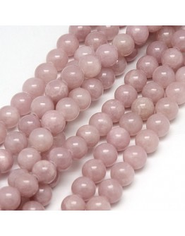 """Natural Yellow Jade Beads Strands, Dyed, Round, RosyBrown, 10mm, Hole: 1mm; about 40pcs/strand, 15.75"""""""