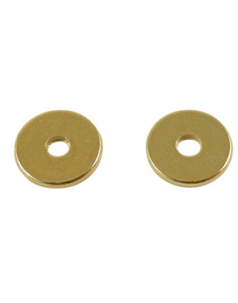Disk Beads Spacer Beads, Brass, Golden, about 8mm in diameter, 1mm thick, hole: 2mm