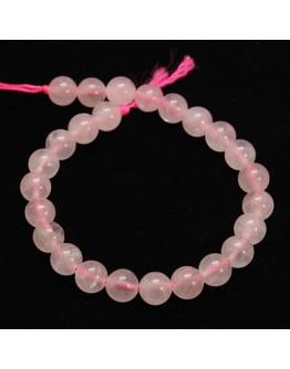 Natural Rose Quartz Beads Strands, Round, 10mm, Hole: 1mm