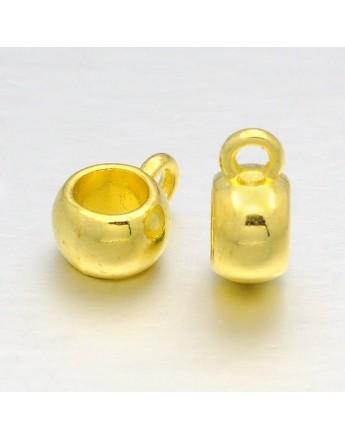Tibetan Style Pendants, Lead Free and Cadmium Free, Rondelle, 8x5mm, Hole: 2mm