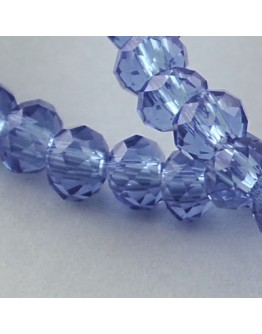 Transparent Glass Beads Strands, Faceted, Abacus, RoyalBlue, 3x2mm; Hole: 0.5mm, about 200pcs/strand, 16.7""