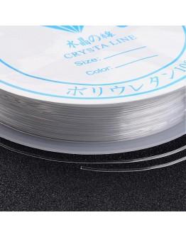 Tamprus silikoninis siūlas, skaidrus, matmenys: 0,7mm, ~7m/rit.
