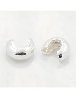 Sidabro spalvos užspaudžiami paslėpėjai, be kadmio, nikelio ir švino, matmenys: 4mm, skylė: 1.5~1.8mm; 30 vnt./pak.