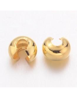 Aukso spalvos užspaudžiami paslėpėjai, be kadmio, nikelio ir švino, matmenys: 4mm, skylė: 1.5~1.8mm; 30 vnt./pak.