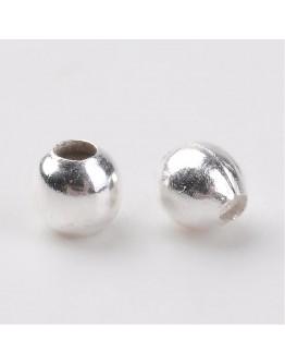 Sidabro spalvos geležiniai intarpai/plombos, apvalūs, matmenys: apie 2mm diametro, skylė: 1mm; 2g.pak.